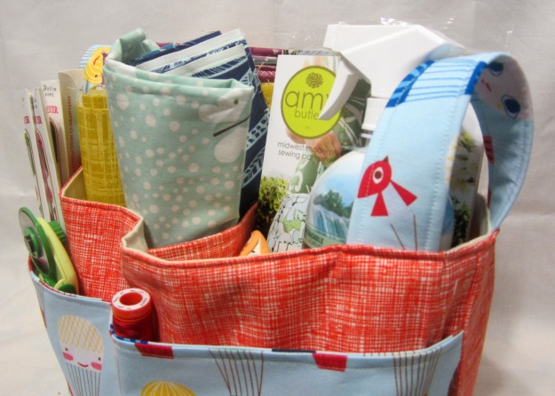 fabric basket upclose