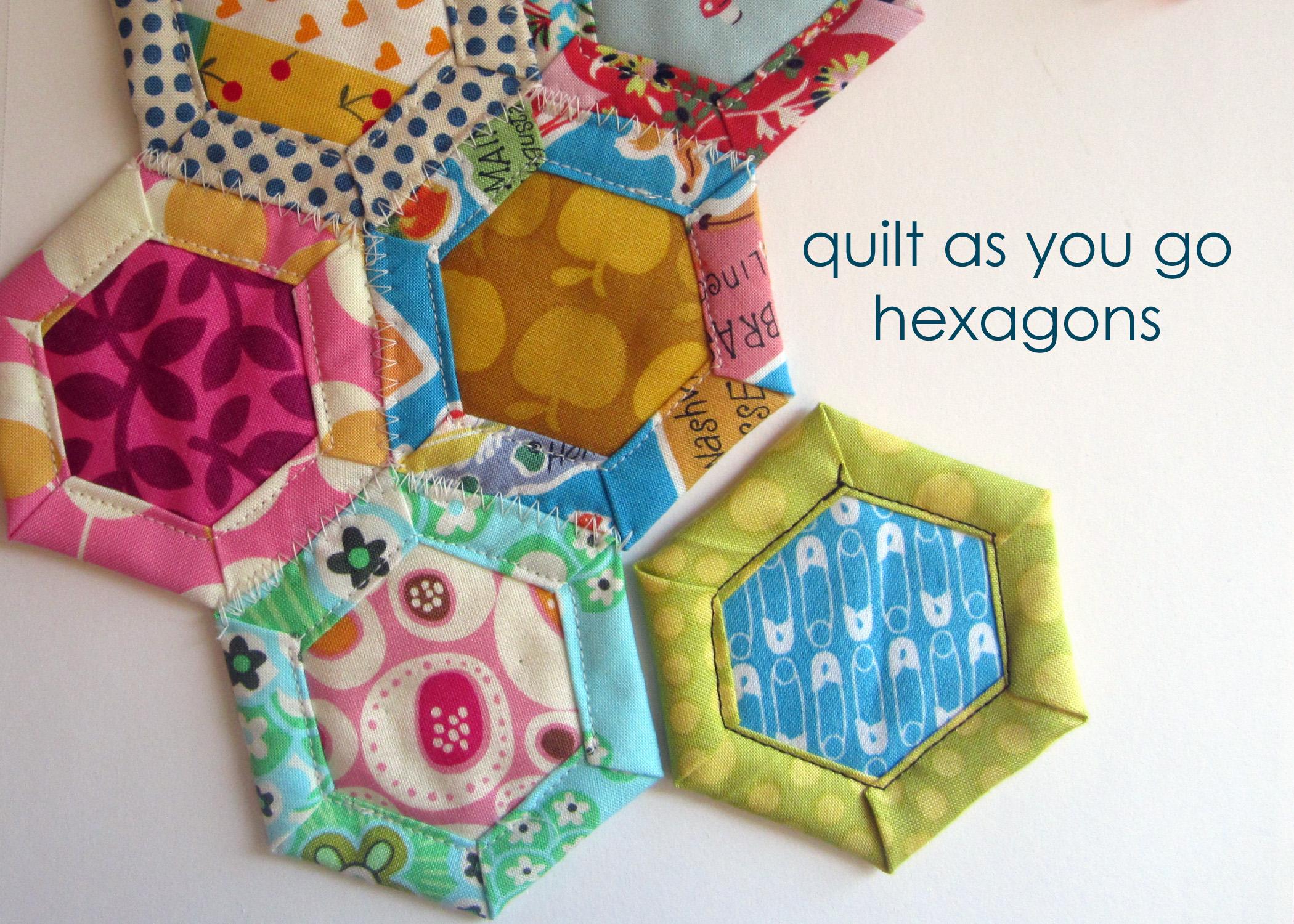Quilt As You Go Hexagon Tutorial Susannah Kate Sews
