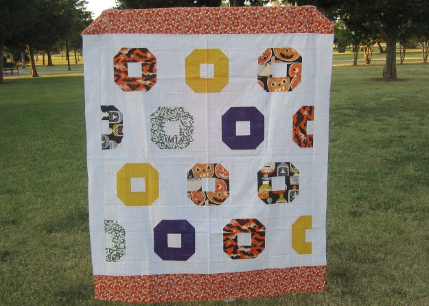 donut quilt top halloween